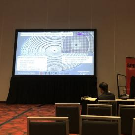 Benedikt Stender, MPO, during his invited talk at Photonics West 3D Micro-Nano Printing session